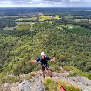 Longest Abseil in Australia on a Natural Surface